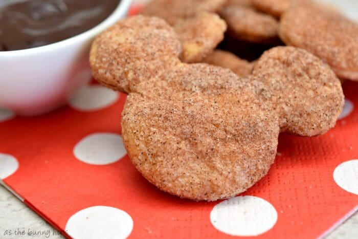 Try these easy and delicious Disney-inspired Churro Cookies shaped like Mickey Mouse!