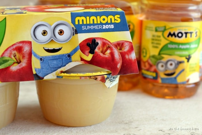 Minions Mott's Applesauce and Juice