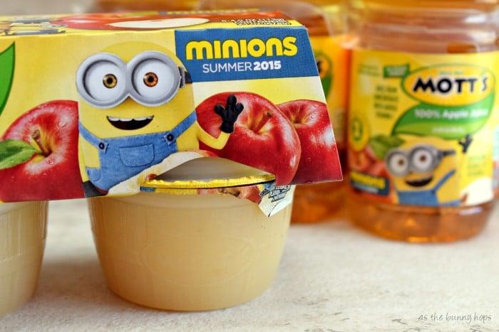 Minions Mott's Applesauce and Juice
