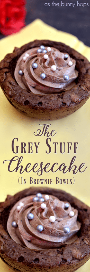 "We're making ""The Grey Stuff"" cheesecake in brownie bowls, inspired by the famous dessert at Be Our Guest restaurant!"
