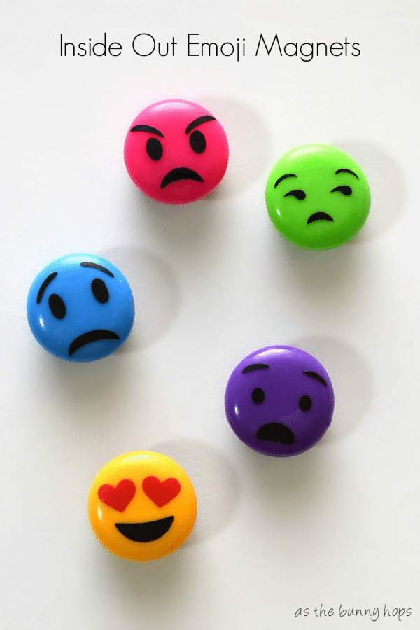 Easy to make fun emoji magnets inspired by Inside Out!