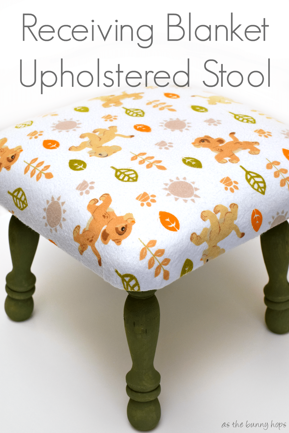 Remarkable Diy Upholstered Lion King Stool As The Bunny Hops Beatyapartments Chair Design Images Beatyapartmentscom