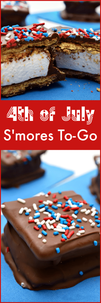 Celebrate the 4th of July with these S'mores To-Go! No campfire needed!
