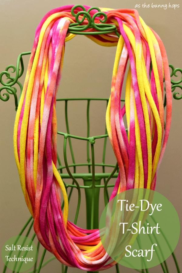 Tie-Dye T-Shirt Rope Scarf