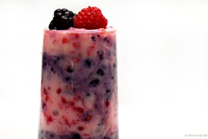 Berry Stripe Tapioca Pudding