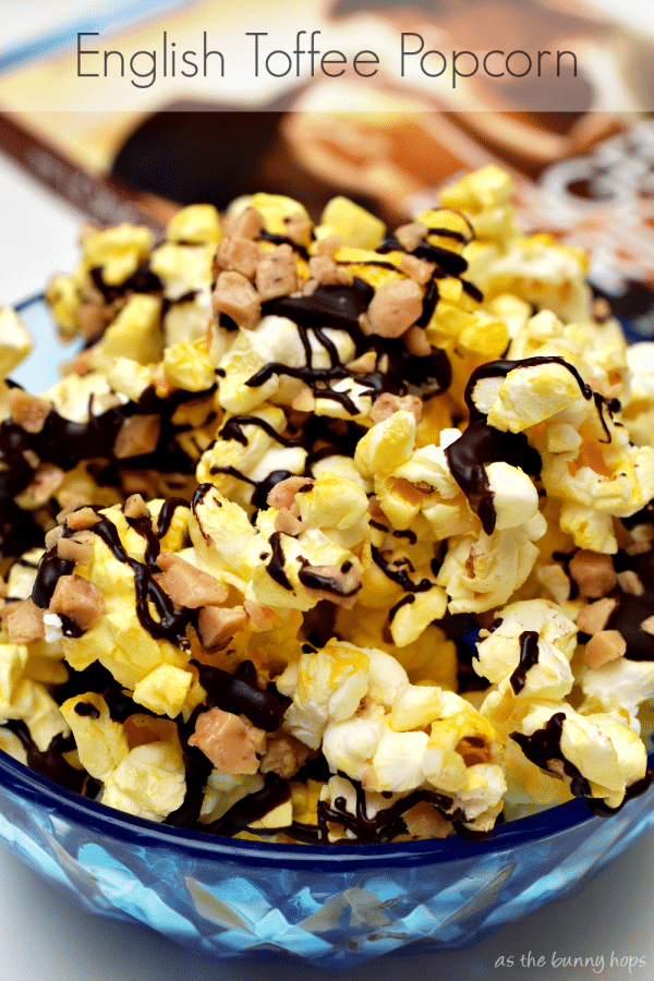 English Toffee Popcorn is the perfect movie night snack. It's easy to make in just a few minutes!