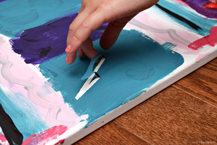 Let the kids make a fun piece of art that features their name with this easy project!