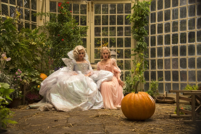 Helena Bonham Carter is the Fairy Godmother and Lily james is Cinderella in Disney's live-action feature inspired by the classic fairy tale, CINDERELLA, directed by Kenneth Branagh.