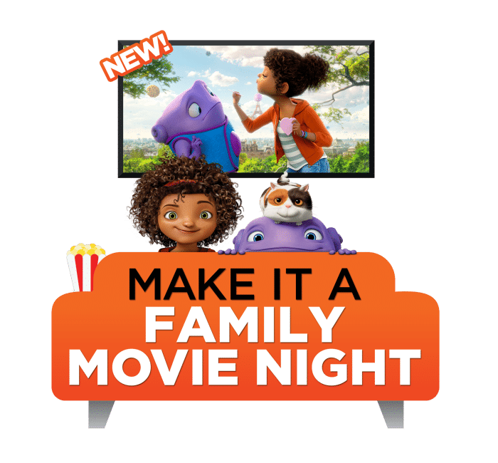 Celebrate HOME on DVD with a fun family movie night including Oh-Mazing Candy Popcorn!