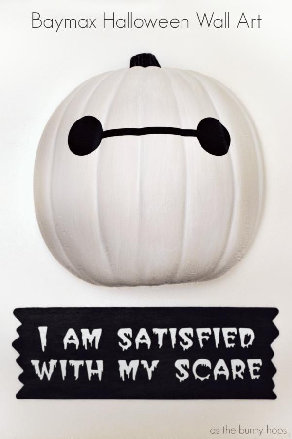 Baymax Halloween Wall Art