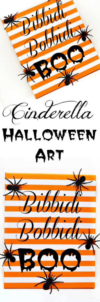 Make a fun Bibbidi Bobbidi Boo Art project, inspired by Cinderella and Halloween! Printable and cut file instructions included!
