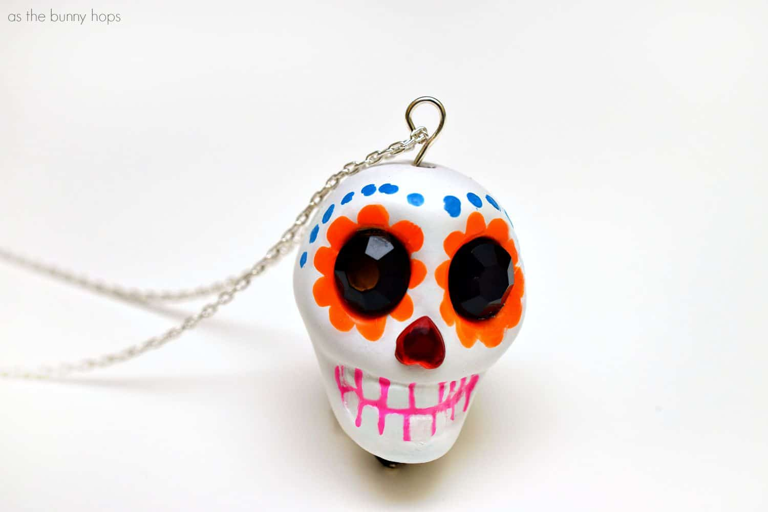 sugar cali sterling pendant product skull silver large cristy