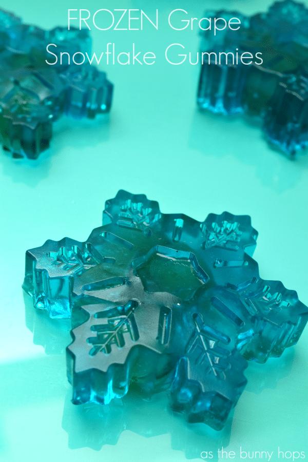 FROZEN Grape Snowflake Gummies