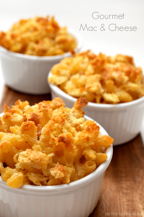 The Best Baked Gourmet Mac and Cheese Ever - As The Bunny Hops®