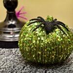 A Sparkly Halloween Entryway