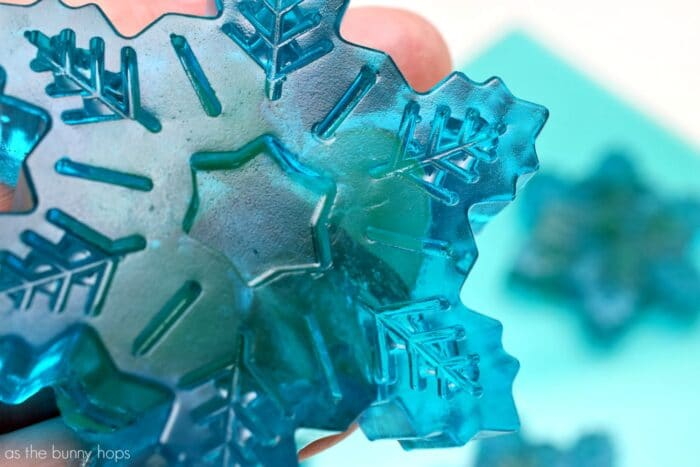Gummy Snowflake Close Up