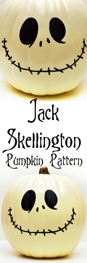 Make your own Jack Skellington Pumpkin with an easy pattern and cut file!