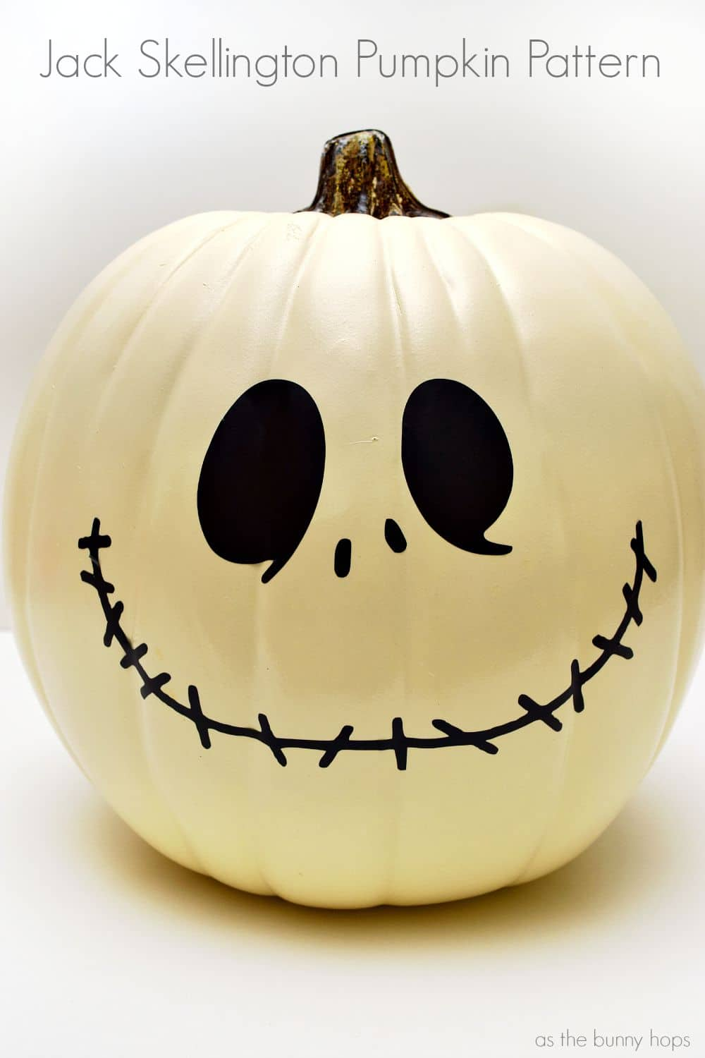 Jack Skellington Pumpkin Pattern And Cut File As The Bunny Hops