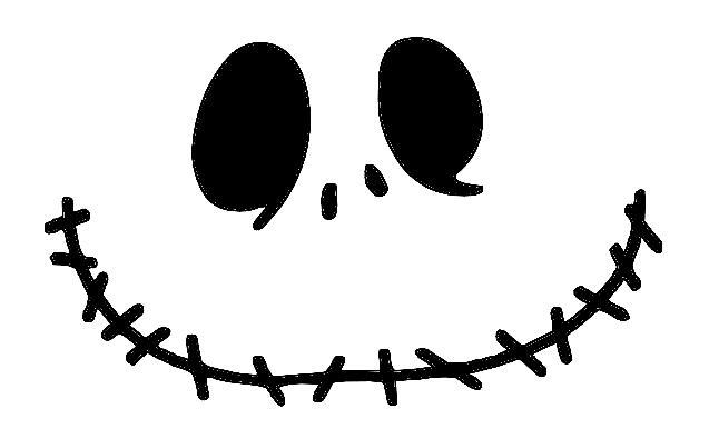 Adorable image inside jack skellington stencil free printable