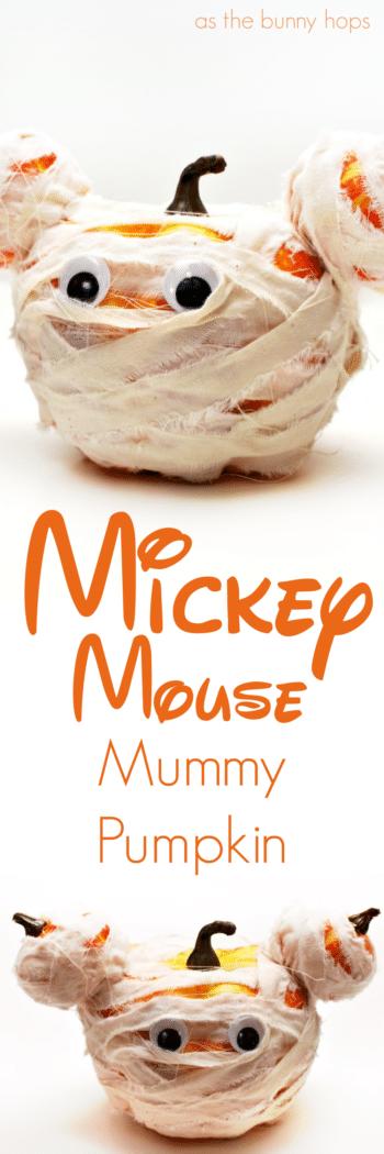 Mickey Mouse Mummy Pumpkin