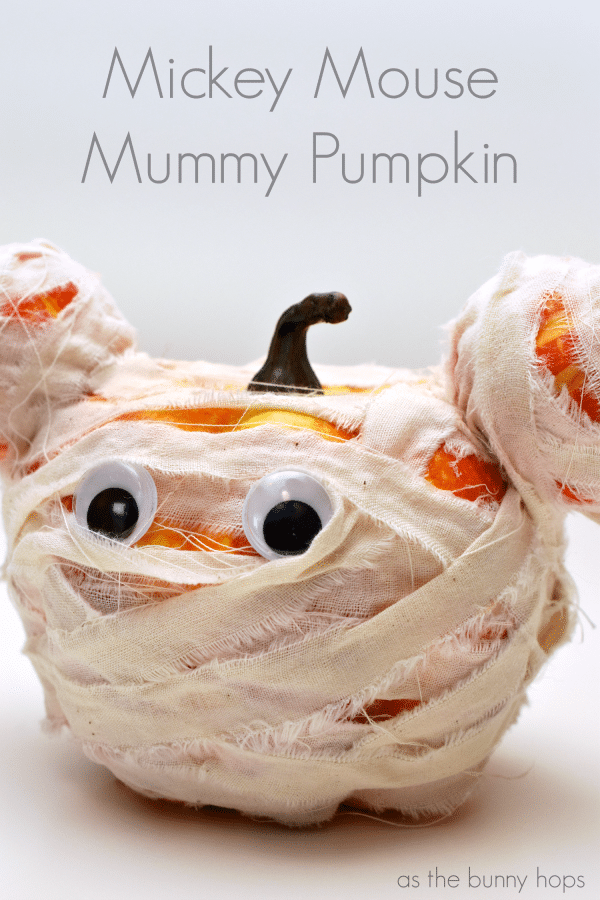 Mickey Mouse Mummy Pumpkin