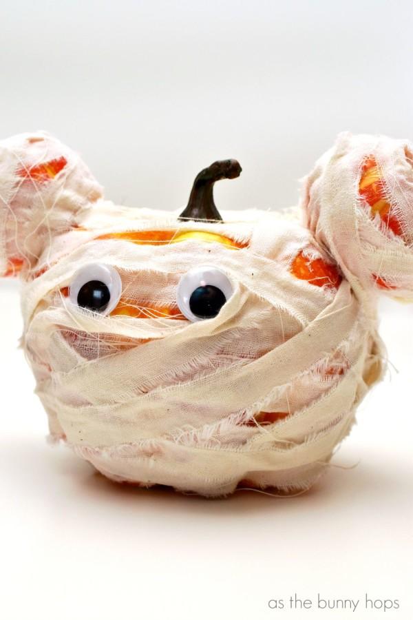 Fun to make Mickey Mouse Mummy Pumpkins!