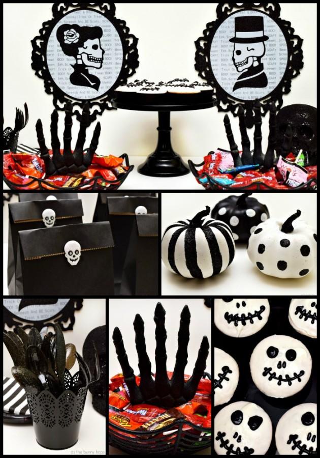 Skeleton Sparkle Halloween Party