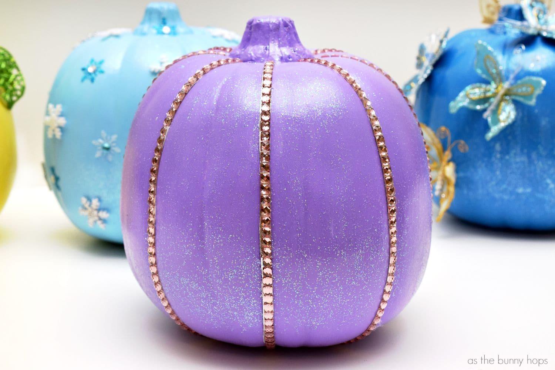 No Carve Disney Princess Pumpkins As The Bunny Hops