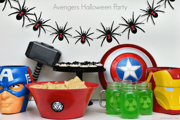 Plan a fun Avengers Halloween Party with Halloween costume supplies and a little DIY!