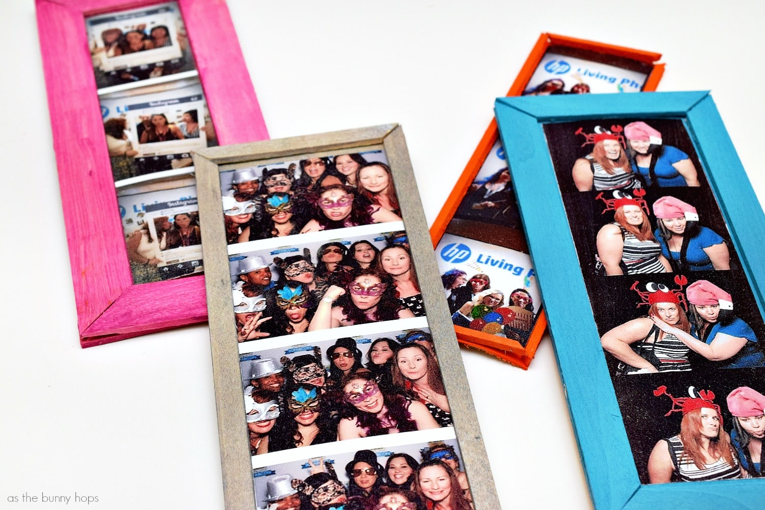 Diy Photo Booth Wall Frames As The Bunny Hops