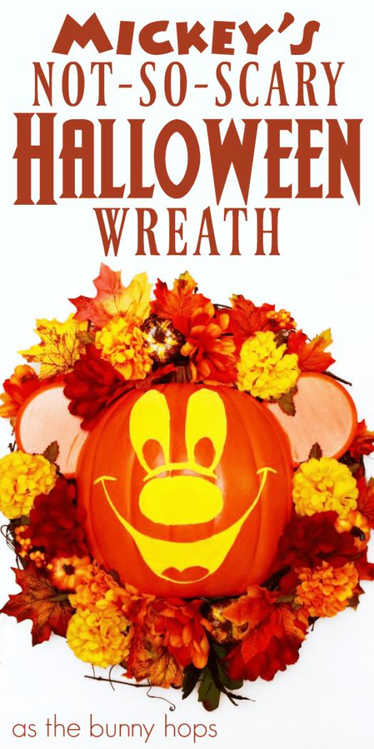 mickeys notsoscary halloween wreath as the bunny hops174