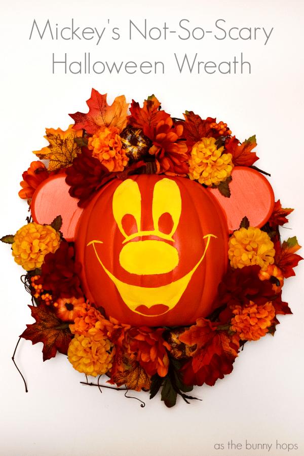 Mickey's Not-So-Scary Halloween Wreath