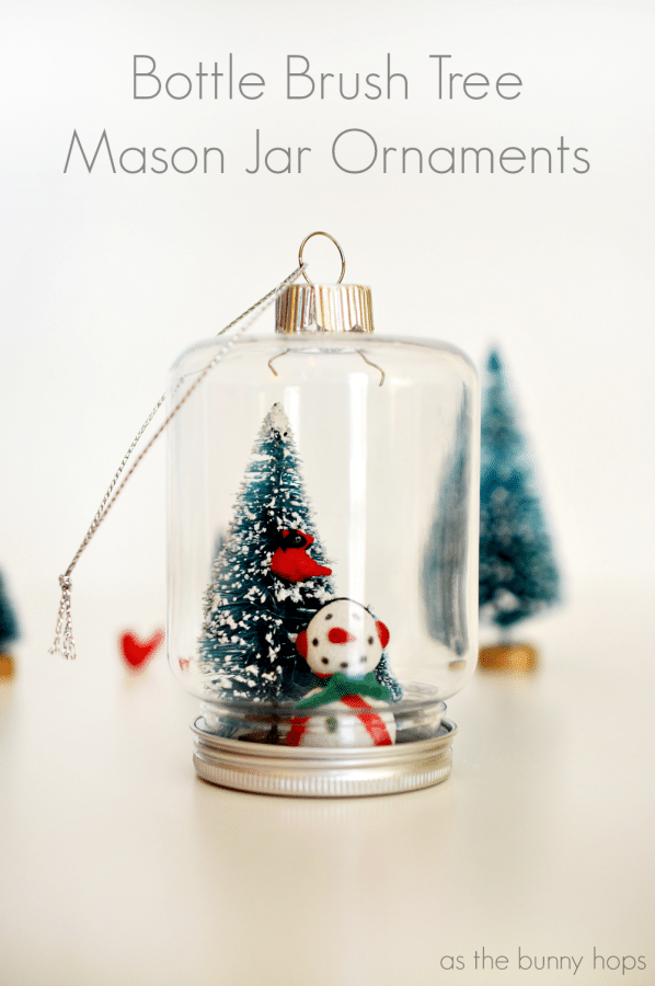 Bottle Brush Tree Mason Jar Ornaments