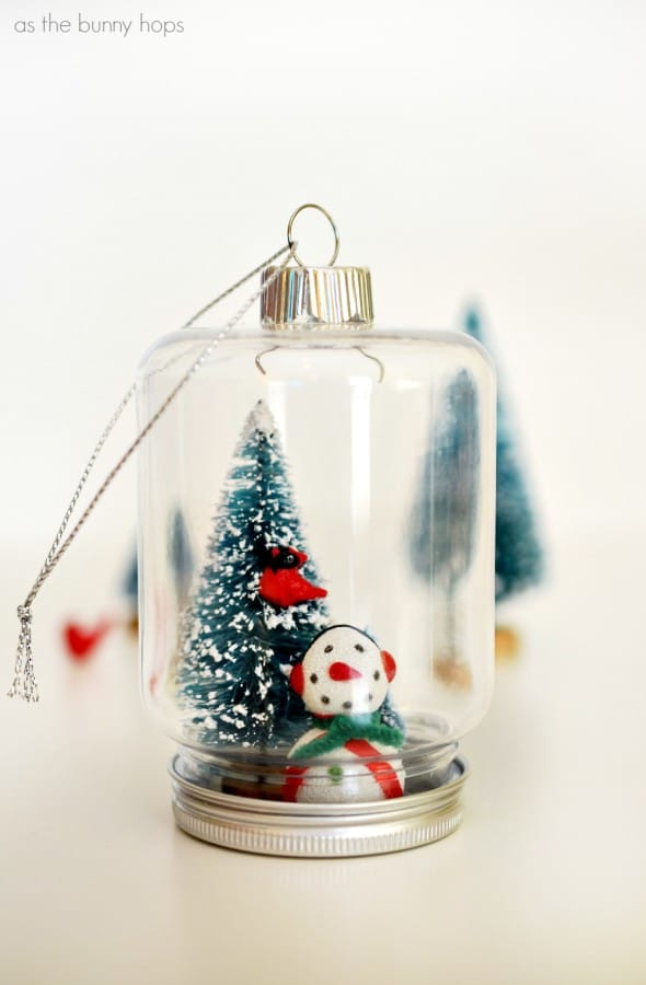 Bottle Tree Mason Jar Ornament