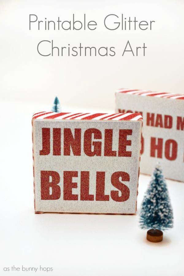 Printable Glitter Christmas Art