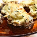 Spinach Artichoke Stuffed Mushrooms