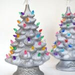 Glittered Ceramic Trees