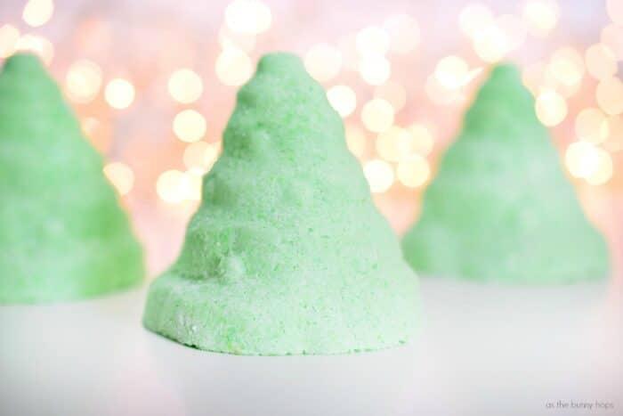 Green Mint Christmas Tree Bath Bombs