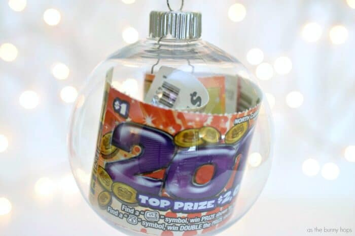 Lottery Ticket Christmas Ornament
