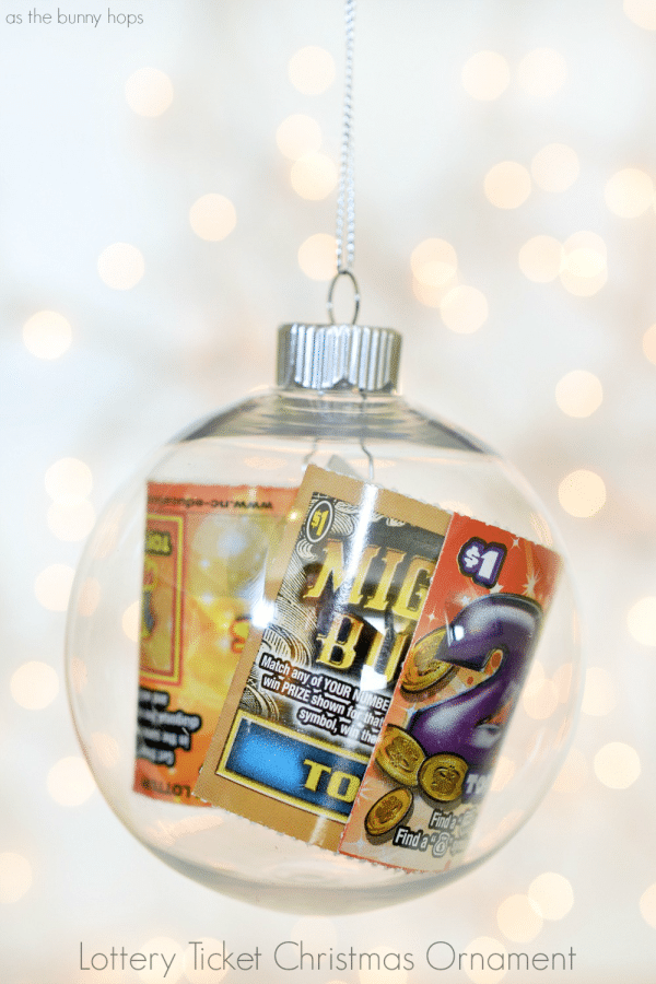 Lottery Ticket Ornament