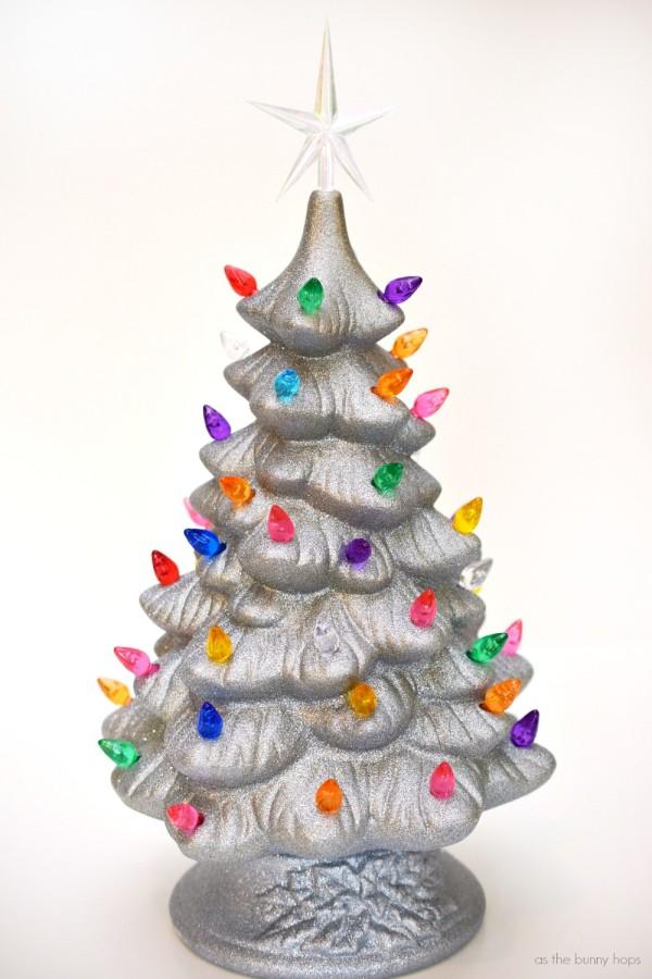 Silver Glittered Tree
