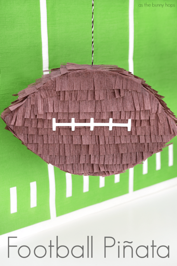 Make an easy football piñata-perfect for the big game!