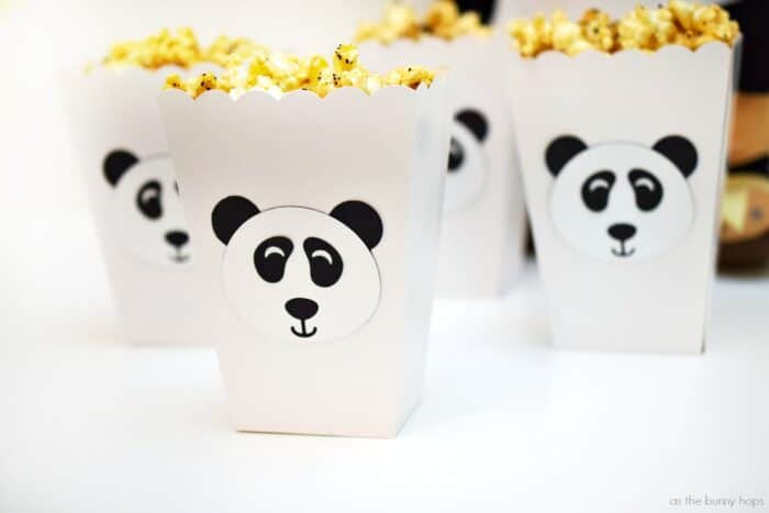 Panda Popcorn Movie Night Snack