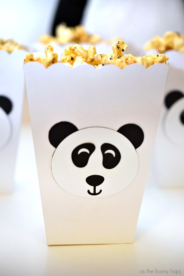Panda Popcorn Box
