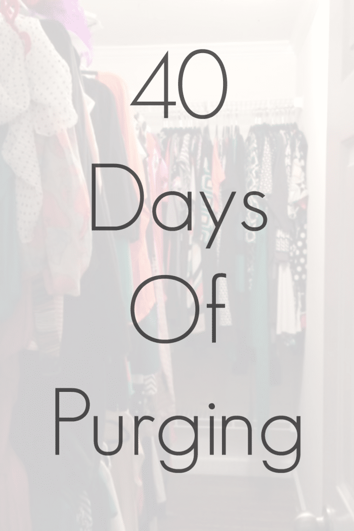 40 Days of Purging