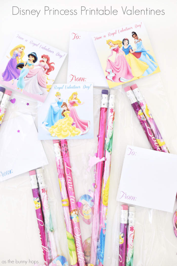 You're just a few minutes away from creating easy and fun Disney Princess Pencil Valentines with my free printable!