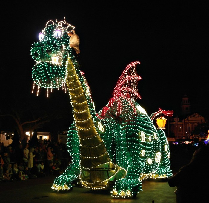 Elliot in Main Street Electrical Parade