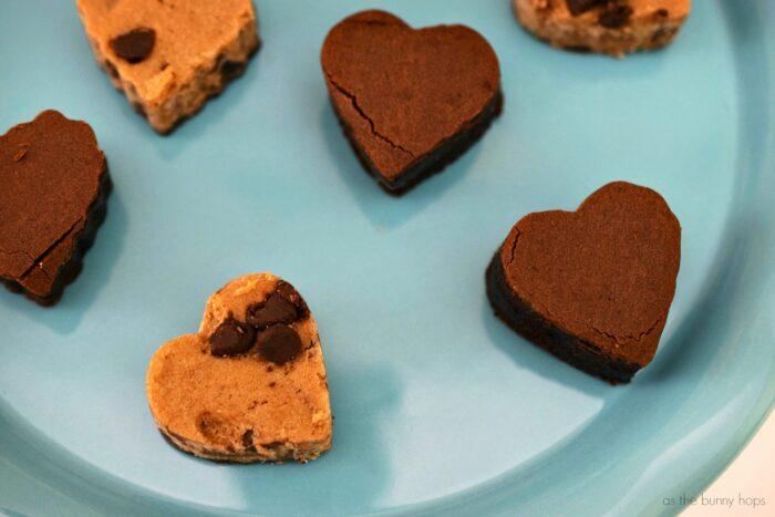 Heart Brownie and Cookies