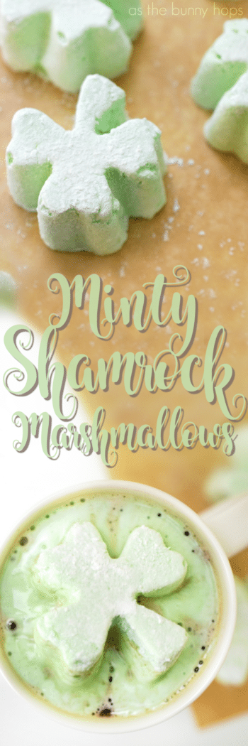 Ready for St. Patrick's Day? Celebrate with minty shamrock marshmallows!