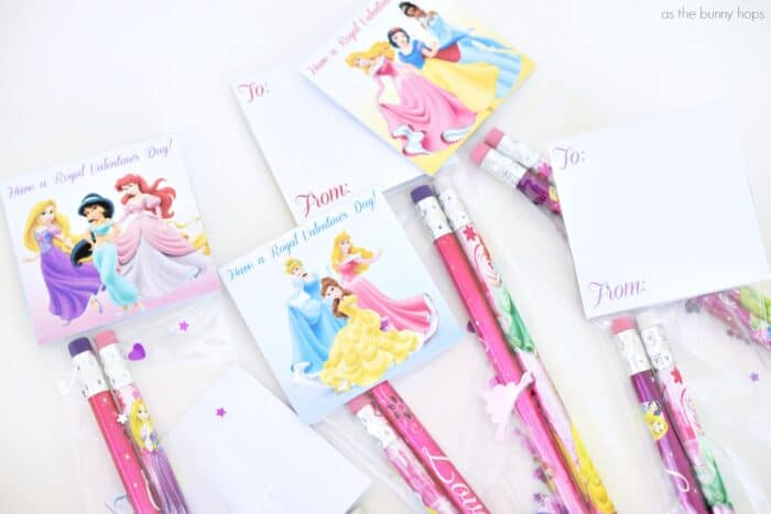 Disney Princess Pencil Valentines